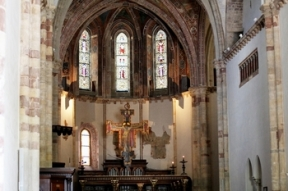 View to Apse with Painted Crucifix