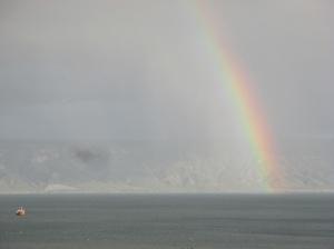 Rainbow over Sea of Galilee