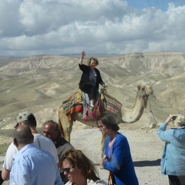 Carol on a camel!