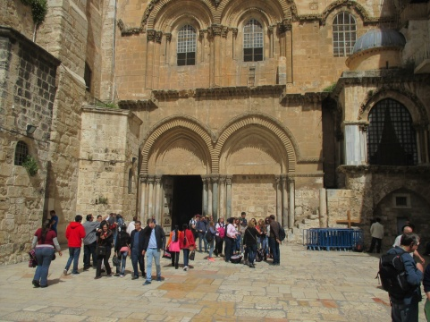 Entrance to Holy Sepulchre churches