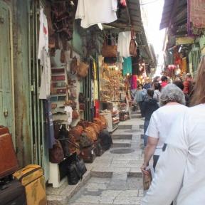 marketplace of Via Dolorosa