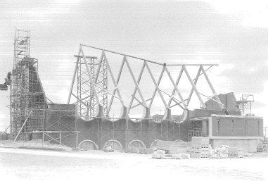Exterior View of Roof Frame